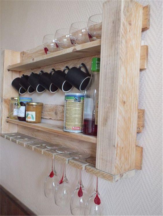 decoracao com pallets cozinha prateleira