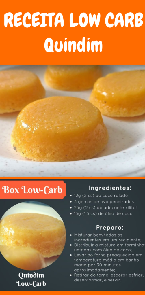 quindim low carb receita
