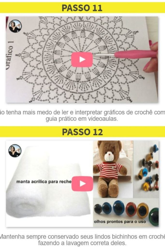 curso croche em video