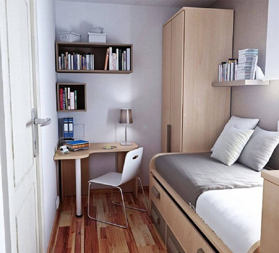 home office apartamento pequeno simples